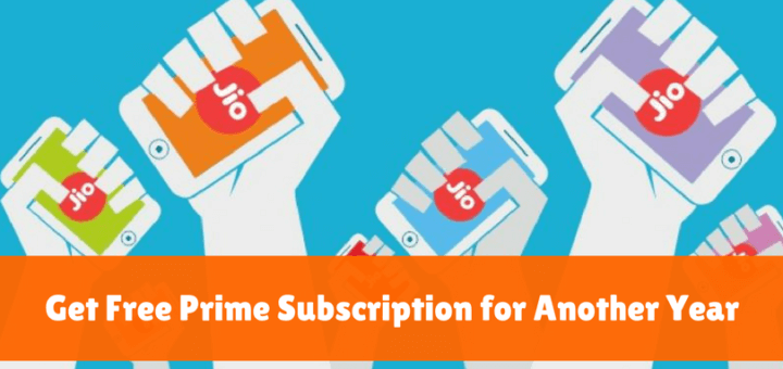 Jio Prime subscription free for another year